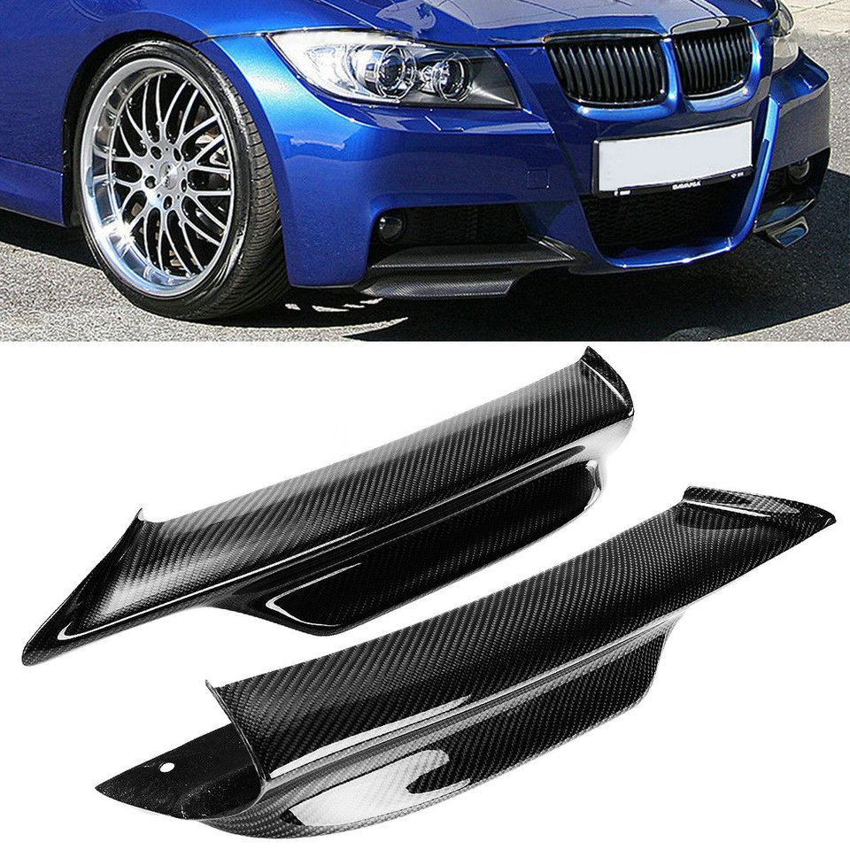 For 06-08 BMW E90 E91 Carbon Fiber Front Spoiler Rear Splitter UV Resist PRO