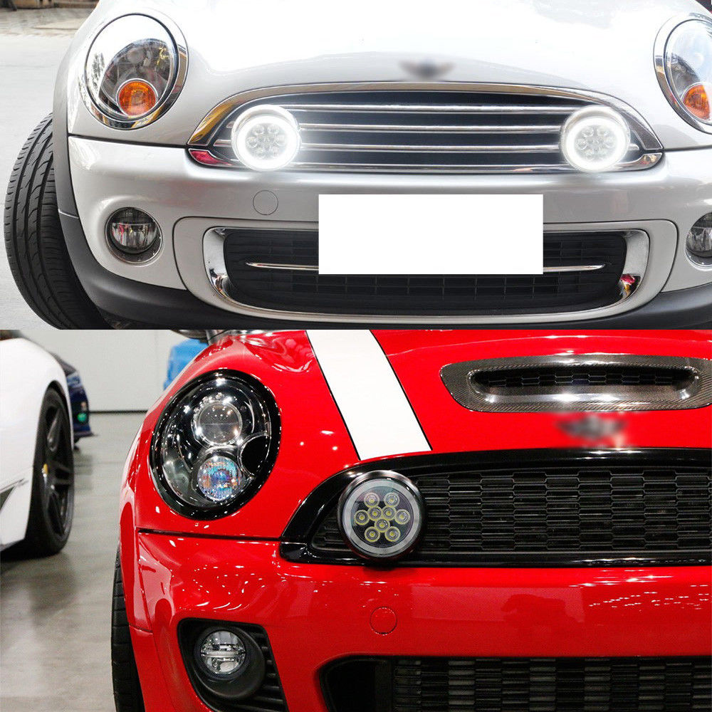 This Auction Features One Set Xenon White Halo Ring Style Led Daytime Running Lights Rally Driving Lamp Emblies For Mini Cooper R55 Clubman R56